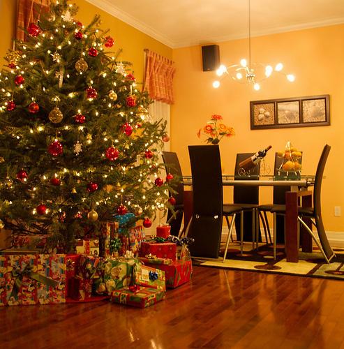 decoracao de arvore de natal tradicional:arvore tradicional