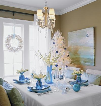 Decora o de natal azul turquesa - Ideas fiesta inauguracion piso ...