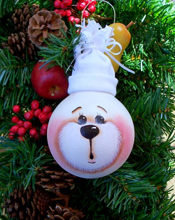 enfeites de natal para jardim passo a passo : enfeites de natal para jardim passo a passo:Enfeite-Natal-lampada-reciclada